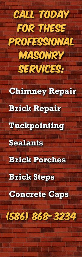 Chimney Repair, Brick Repair And Masonry Contractors In Detroit MI